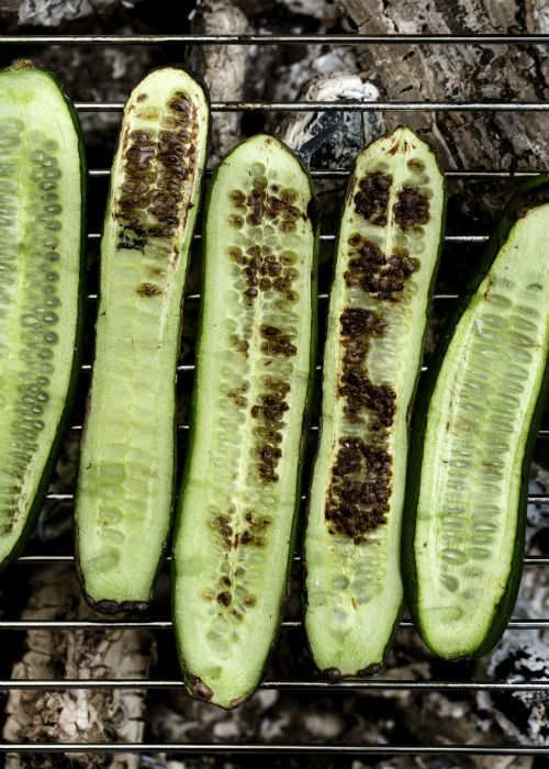 Grillet agurk