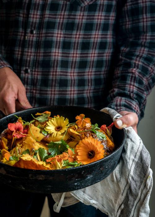 Lun græskarsalat med orientalske smage